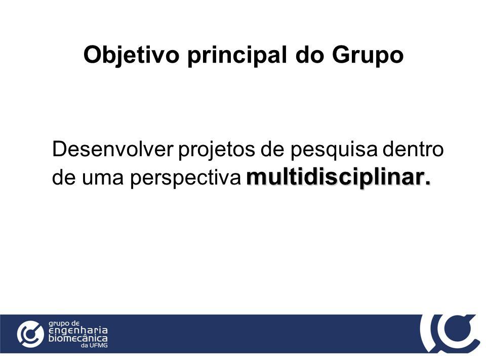 Objetivo principal do Grupo multidisciplinar. Desenvolver projetos de pesquisa dentro de uma perspectiva multidisciplinar.