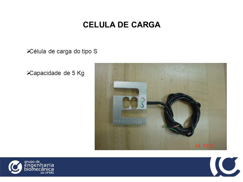 CELULA DE CARGA Célula de carga do tipo S Capacidade de 5 Kg