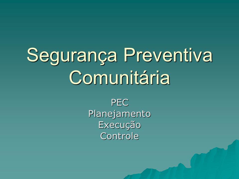 Segurança Preventiva Comunitária PECPlanejamentoExecuçãoControle
