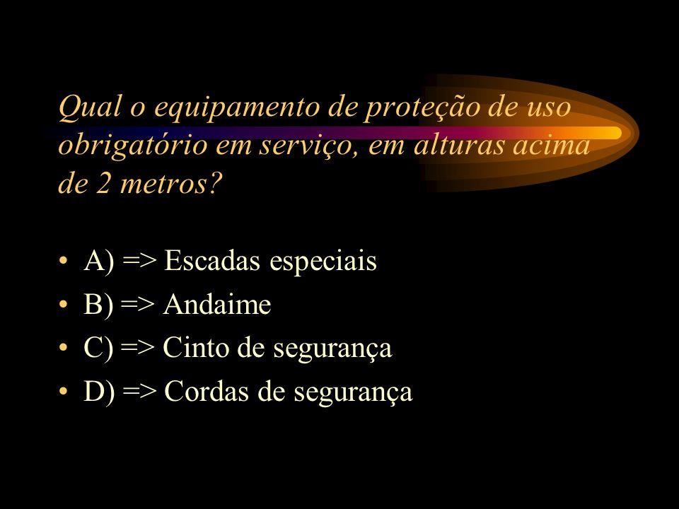 A) => Acidente