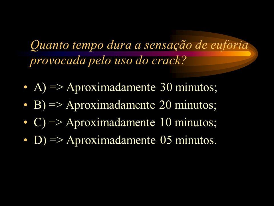 A) => É de fácil consumo e efeito rápido;