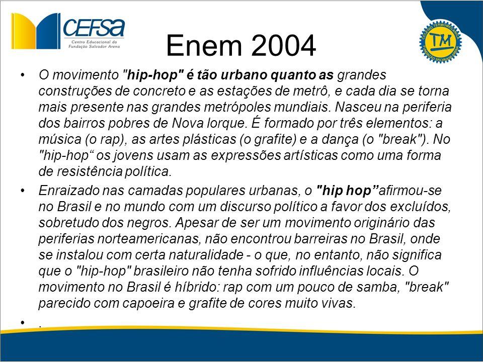 Enem 2004 O movimento