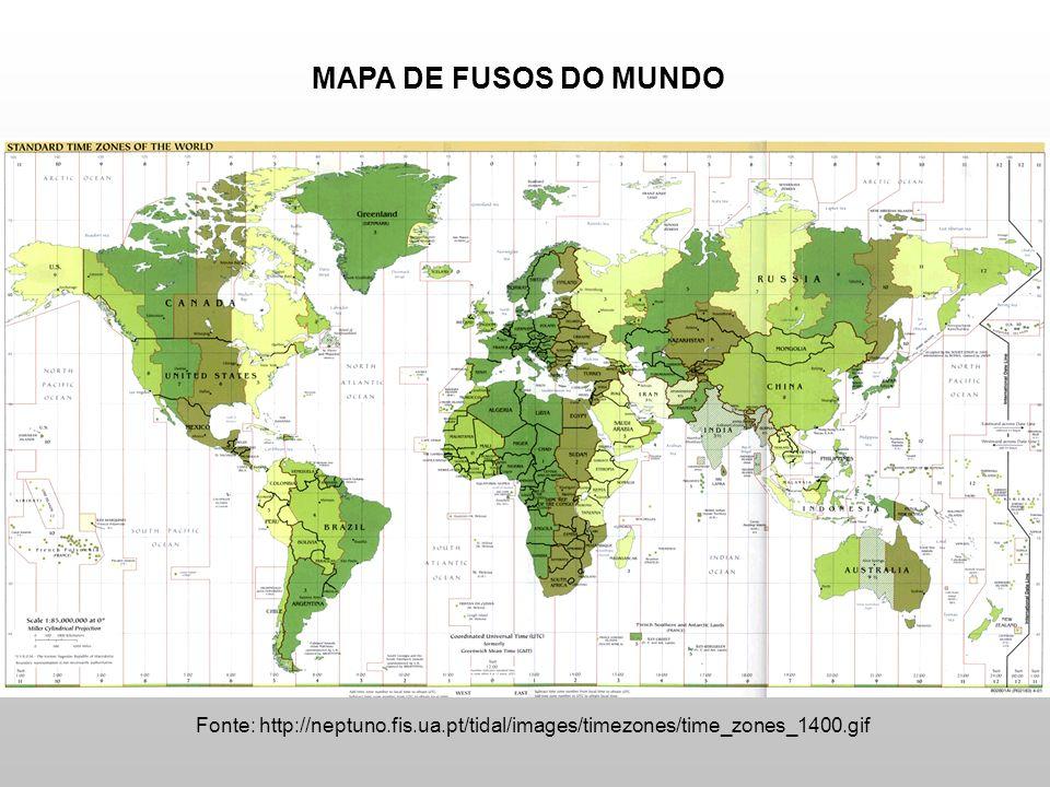 Fonte: http://neptuno.fis.ua.pt/tidal/images/timezones/time_zones_1400.gif MAPA DE FUSOS DO MUNDO