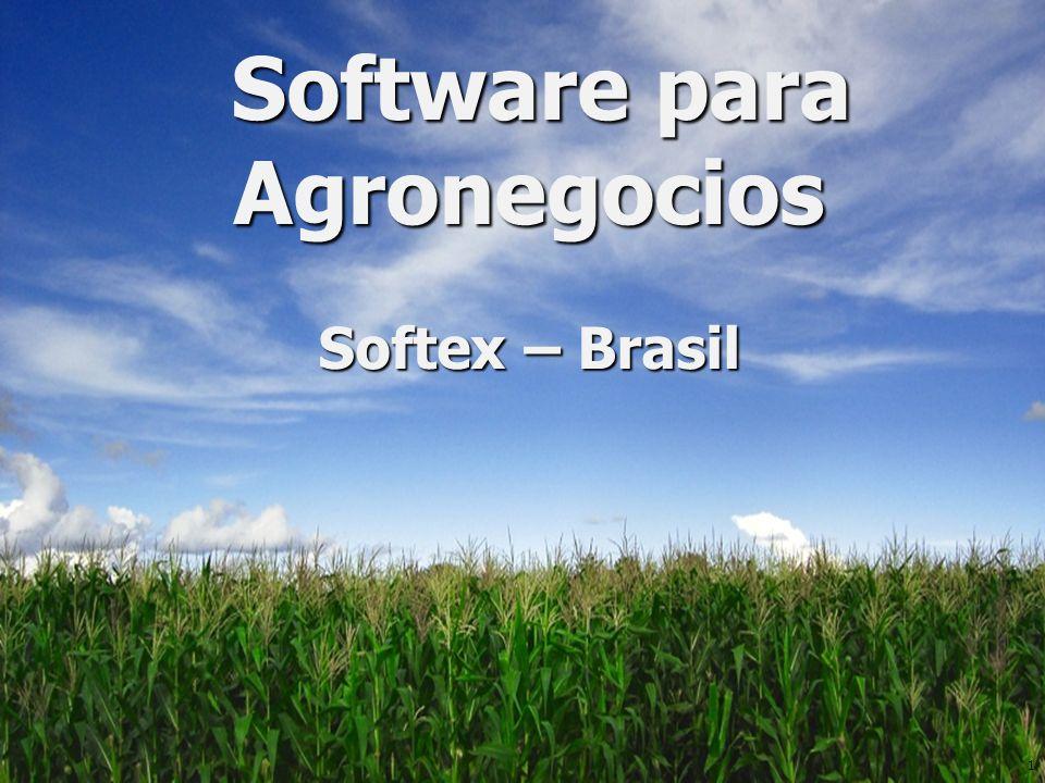 1 Software para Agronegocios Software para Agronegocios Softex – Brasil