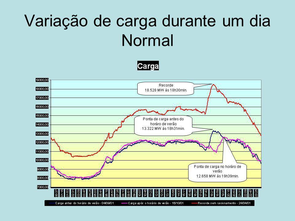 Variação de carga durante um dia Normal