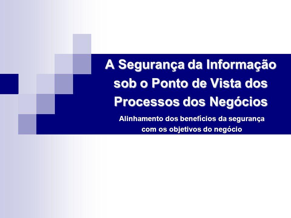 A Segurança da Informação sob o Ponto de Vista dos Processos dos Negócios A Segurança da Informação sob o Ponto de Vista dos Processos dos Negócios Al