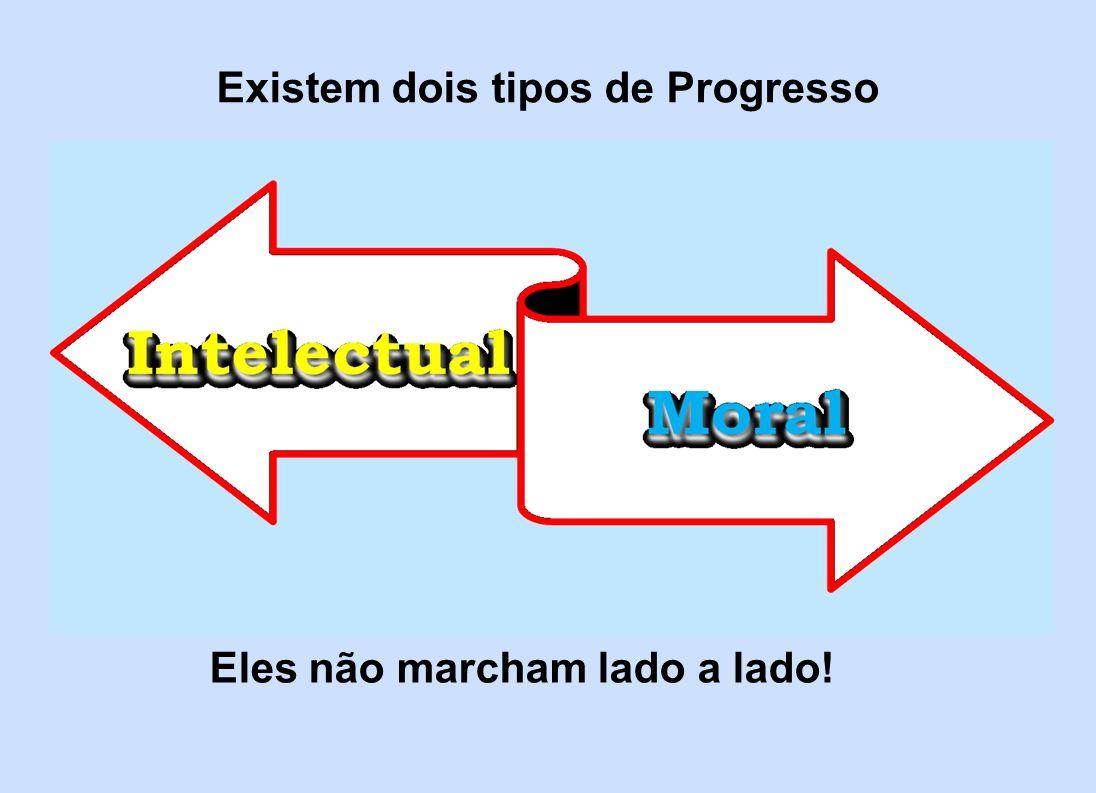 Existem dois tipos de Progresso Eles não marcham lado a lado!