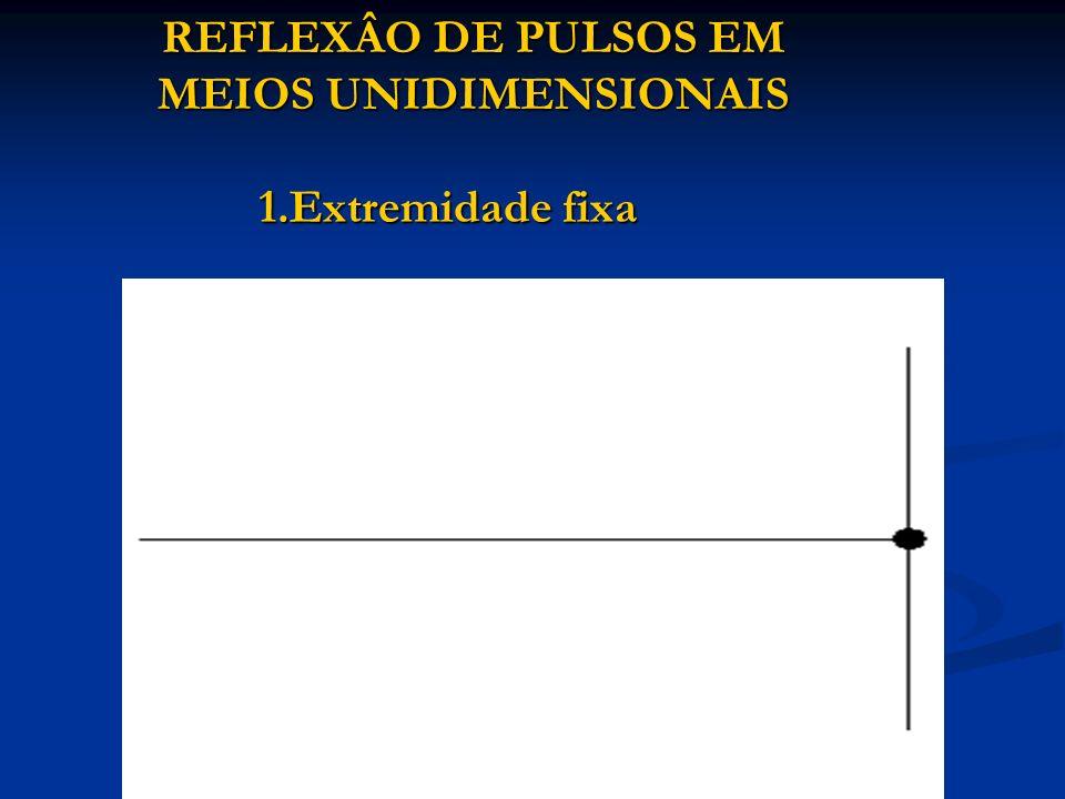 REFLEXÂO DE PULSOS EM MEIOS UNIDIMENSIONAIS 1.Extremidade fixa