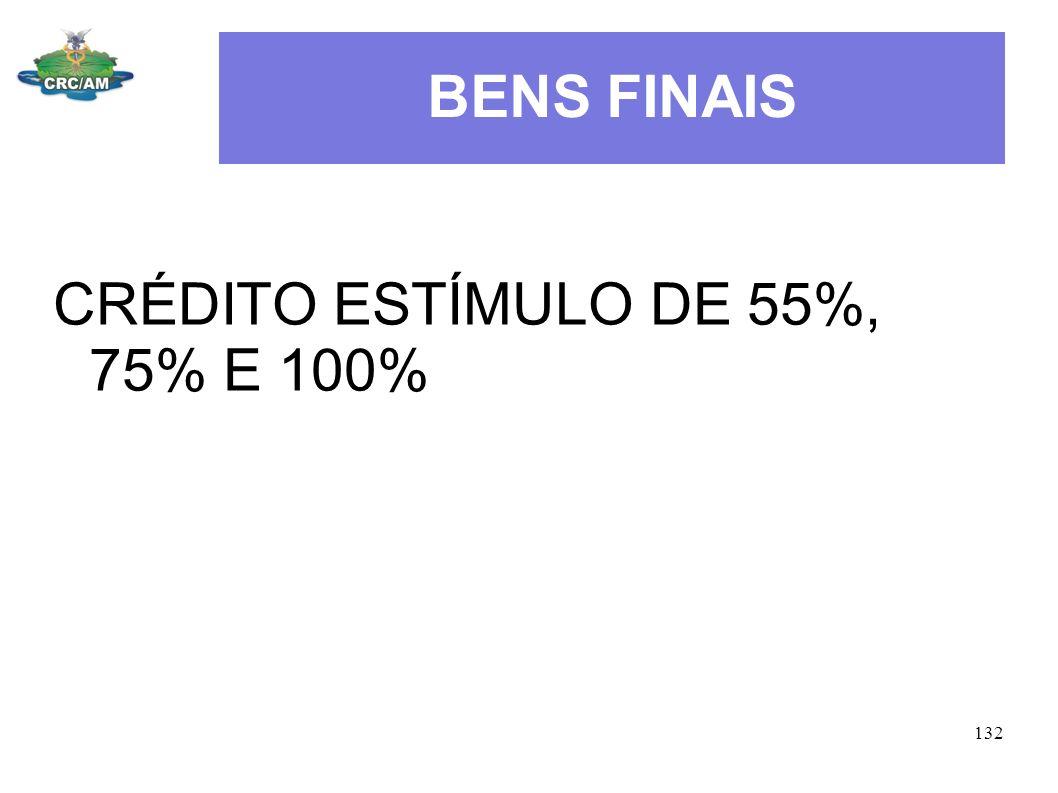 BENS FINAIS CRÉDITO ESTÍMULO DE 55%, 75% E 100% 132