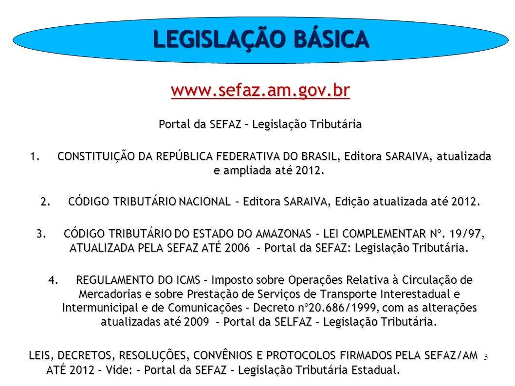 EXEMPLOS Saída de mercadoria nacional, com imposto – ST 000 Remessa de mercadoria nacional para a Zona Franca de Manaus - ST 040 74
