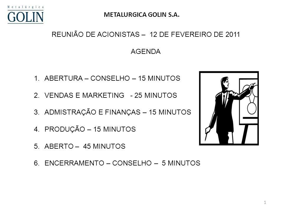 1 METALURGICA GOLIN S.A.