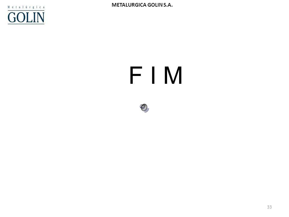 32 METALURGICA GOLIN S.A. 6. ENCERRAMENTO – CONSELHO – 5 MINUTOS