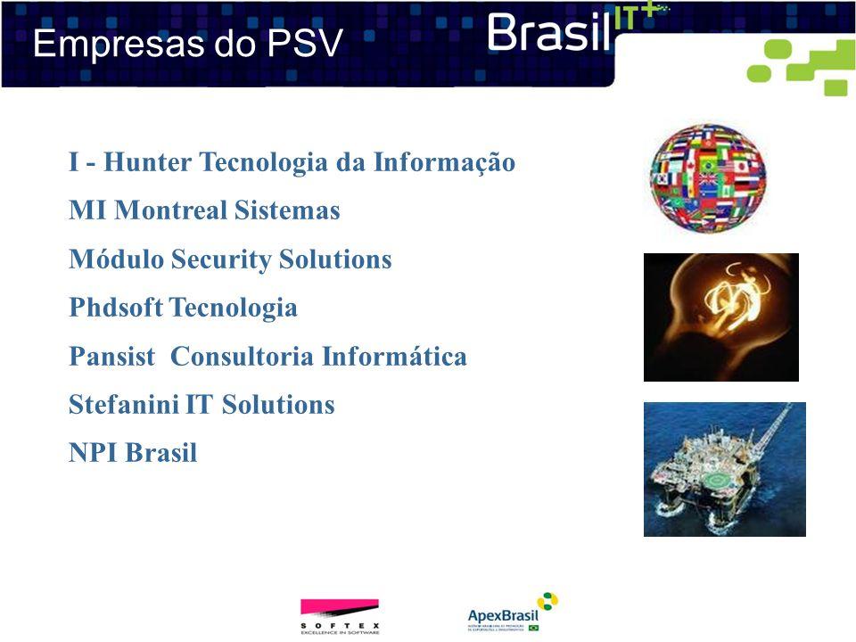 Empresas do PSV I - Hunter Tecnologia da Informação MI Montreal Sistemas Módulo Security Solutions Phdsoft Tecnologia Pansist Consultoria Informática