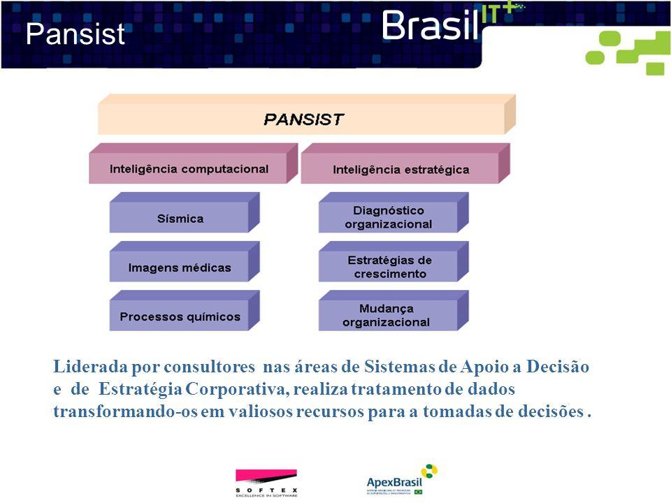 Pansist Liderada por consultores nas áreas de Sistemas de Apoio a Decisão e de Estratégia Corporativa, realiza tratamento de dados transformando-os em