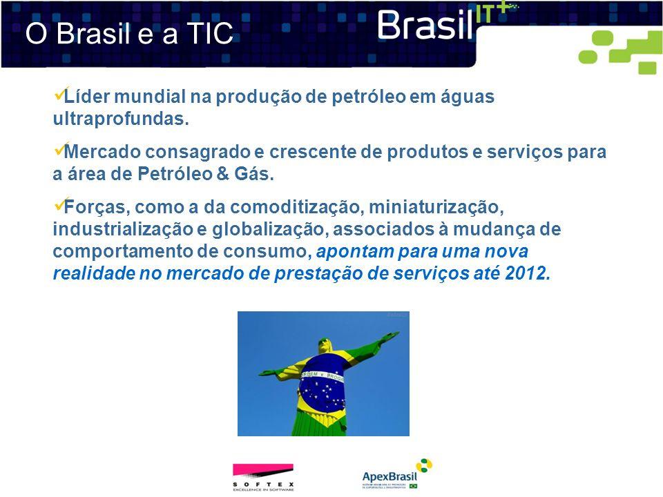 O Brasil e a TIC Líder mundial na produção de petróleo em águas ultraprofundas. Mercado consagrado e crescente de produtos e serviços para a área de P