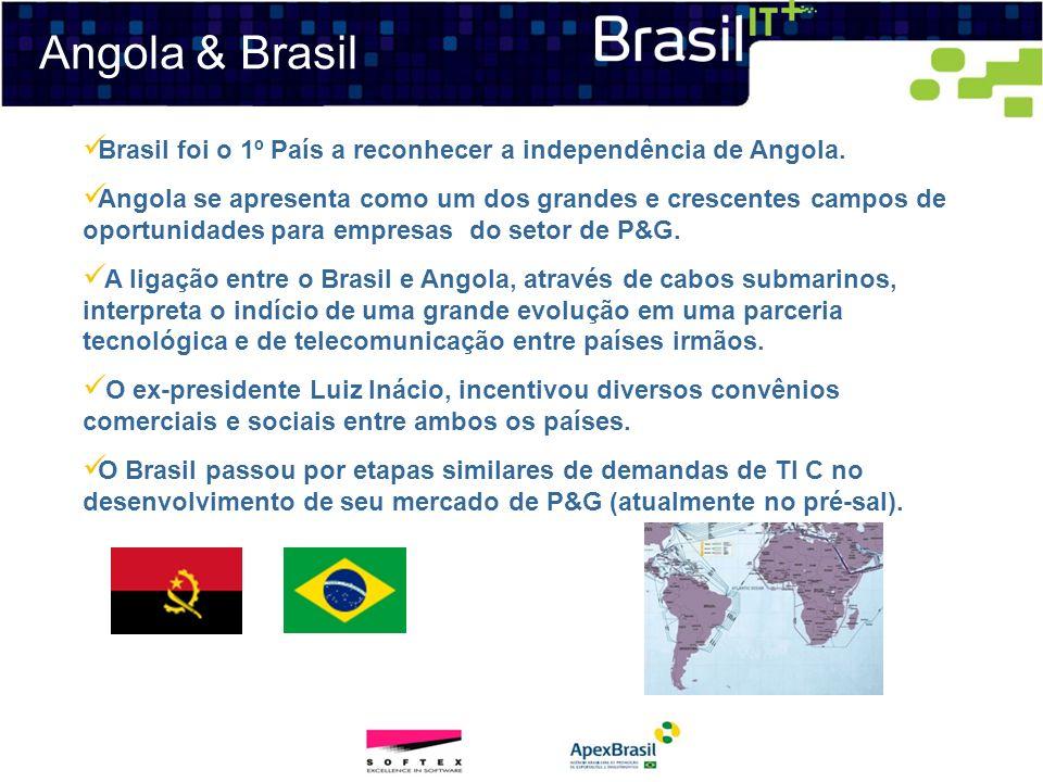 Angola & Brasil Brasil foi o 1º País a reconhecer a independência de Angola. Angola se apresenta como um dos grandes e crescentes campos de oportunida