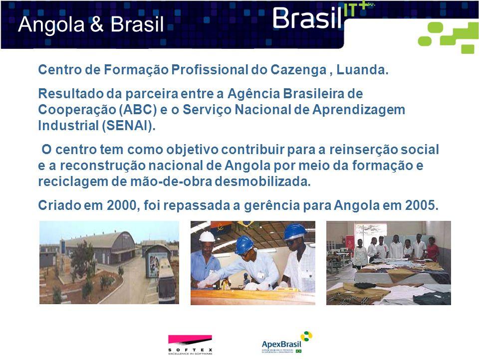 Angola & Brasil Centro de Formação Profissional do Cazenga, Luanda. Resultado da parceira entre a Agência Brasileira de Cooperação (ABC) e o Serviço N