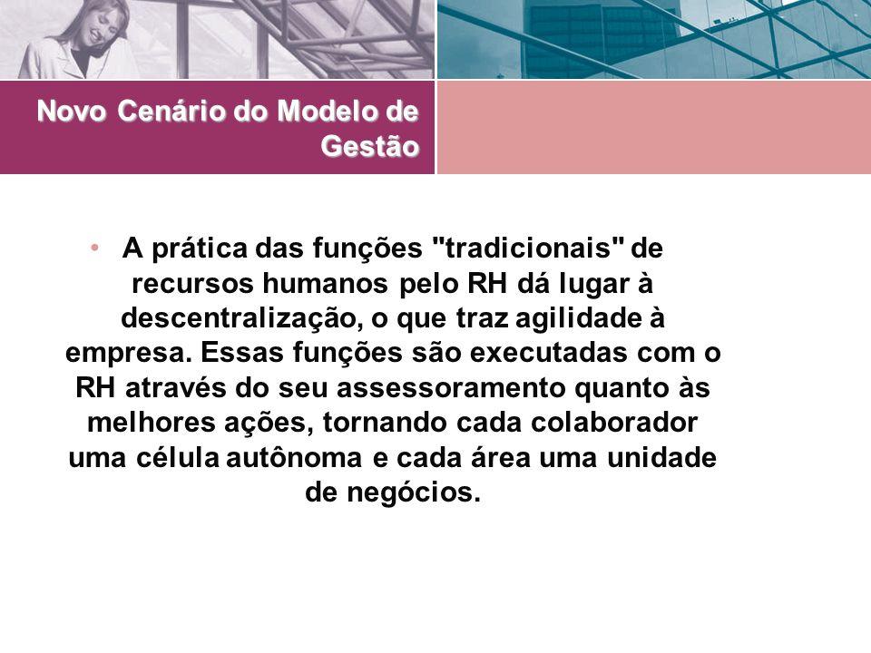 Novo Cenário do Modelo de Gestão A prática das funções