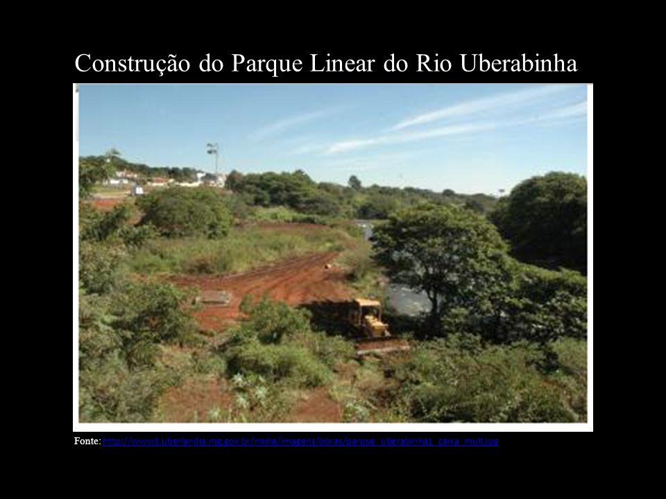 Construção do Parque Linear do Rio Uberabinha Fonte: http://www3.uberlandia.mg.gov.br/midia/imagens/obras/parque_uberabinha1_caixa_mult.jpghttp://www3