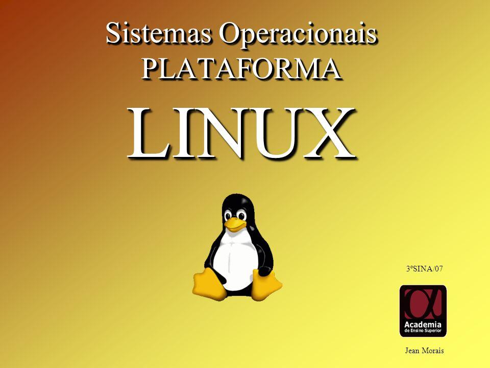 Sistemas Operacionais PLATAFORMALINUX PLATAFORMALINUX Jean Morais 3ºSINA/07