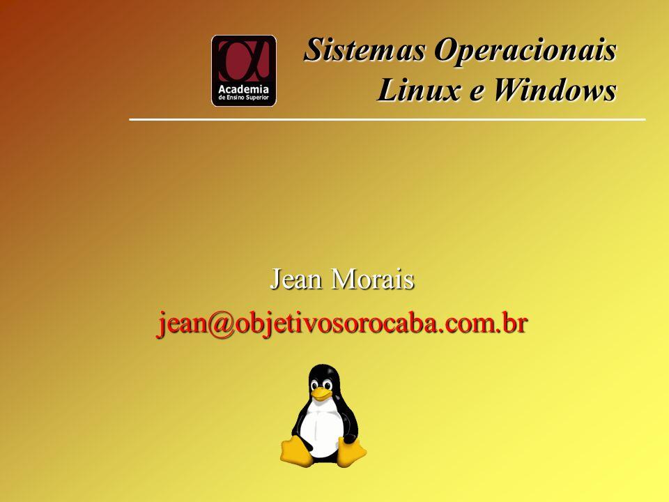 Jean Morais jean@objetivosorocaba.com.br Sistemas Operacionais Linux e Windows