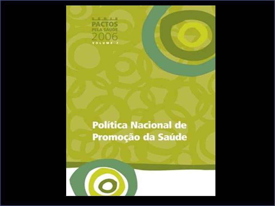 PACTO PELA SAÚDE (1) Pacto pela Vida; (2) Pacto em Defesa do SUS; (3) Pacto de Gestão do SUS. PROMOÇÃO DA SAÚDE: Elaborar e implantar a Política Nacio