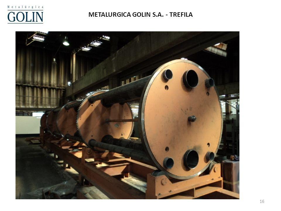 16 METALURGICA GOLIN S.A. - TREFILA