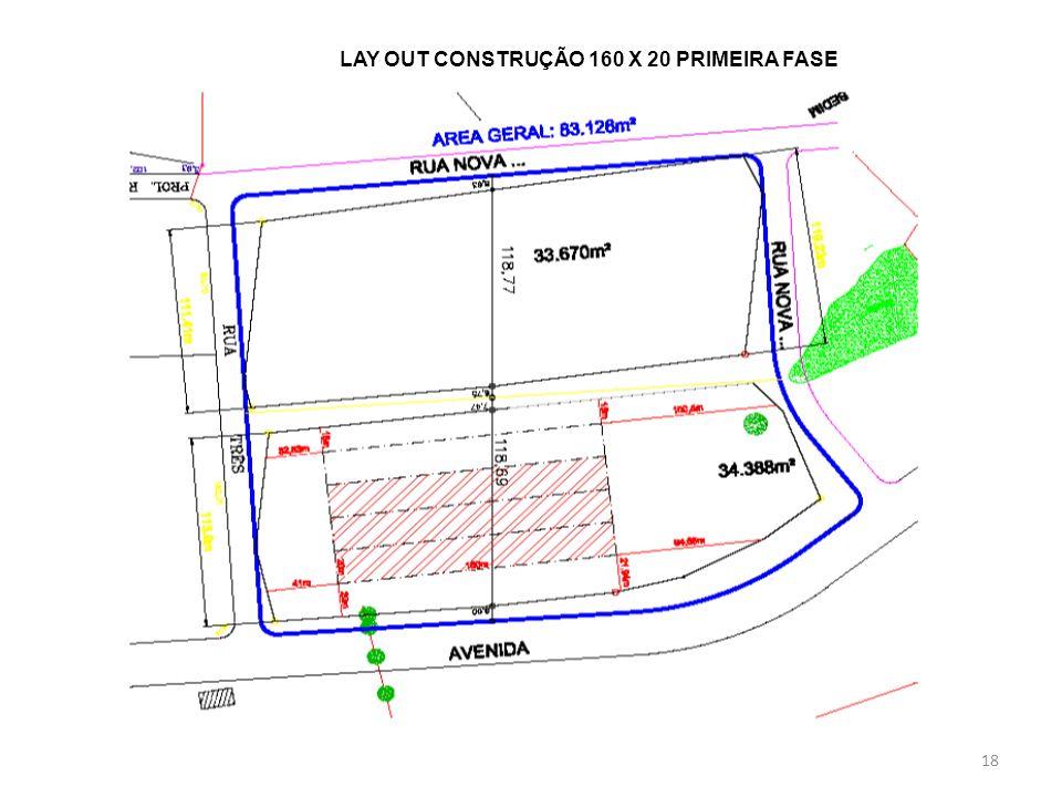 18 LAY OUT CONSTRUÇÃO 160 X 20 PRIMEIRA FASE
