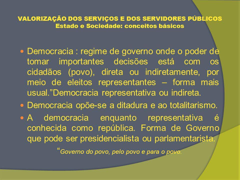 VALORIZAÇÃO DOS SERVIÇOS E DOS SERVIDORES PÚBLICOS ESTADO MÍNIMO : O CASO BRASILEIRO Principais Estratégias Adotadas – Governo LULA - Ampliação da estrutura administrativa do Estado, com a criação de novos Ministérios.