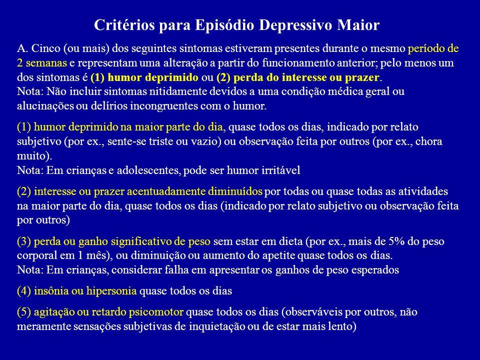 Ciclagem Rápida: Ocorrem pelo menos quatro episódios depressivos, maníacos ou mistos, no período de um ano. Características: 1. Ocorrem mais em mulher