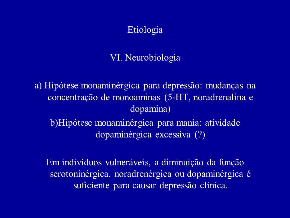 Etiologia V. história de vida a) Teoria psicanalítica (Freud, Melanie Klein e John Bowlby) B) Teorias cognitivas: infêrência arbitrária, abstração sel