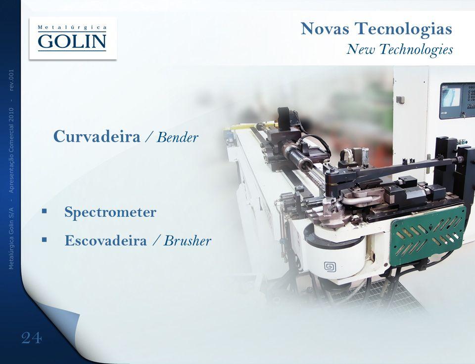 Spectrometer Escovadeira / Brusher Novas Tecnologias New Technologies Curvadeira / Bender 24