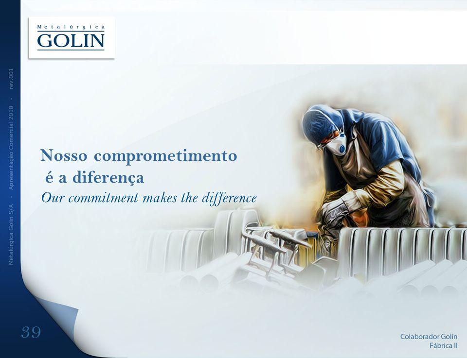 Nosso comprometimento é a diferença Our commitment makes the difference 39
