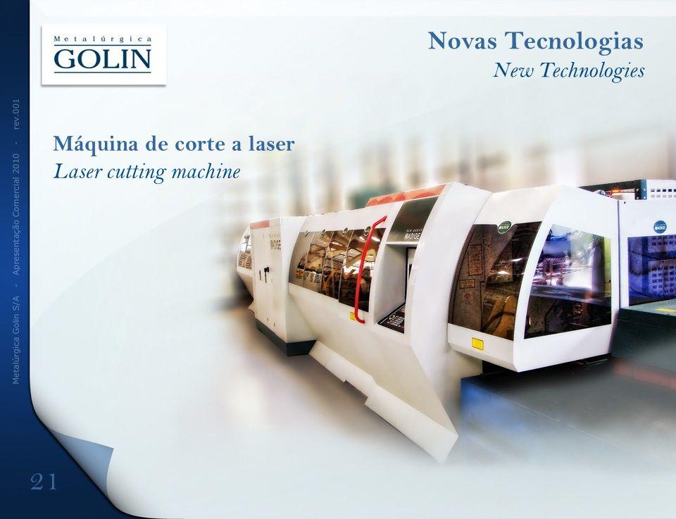 Máquina de corte a laser Laser cutting machine Novas Tecnologias New Technologies 21