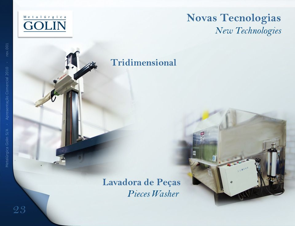 Tridimensional Novas Tecnologias New Technologies Lavadora de Peças Pieces Washer 23