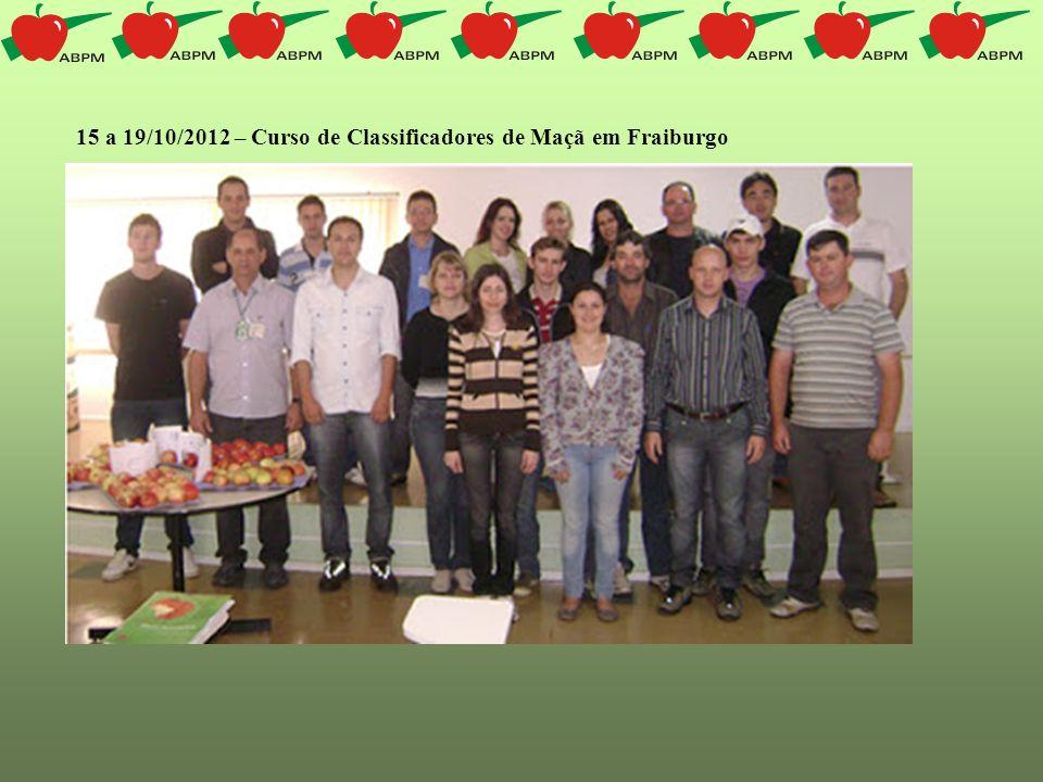 15 a 19/10/2012 – Curso de Classificadores de Maçã em Fraiburgo