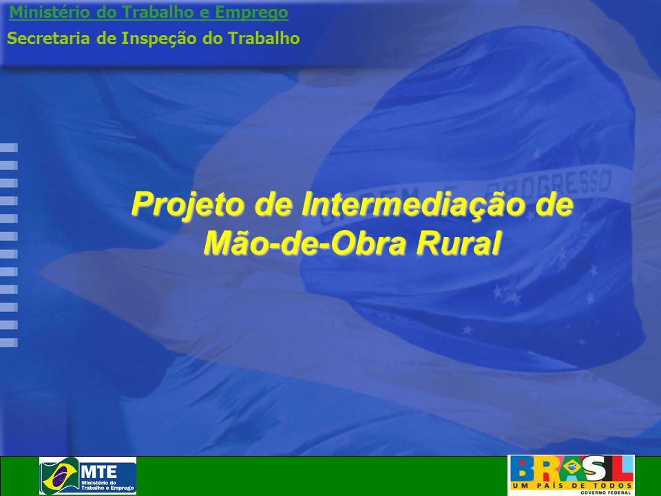 Ministério do Trabalho e Emprego Projeto de Intermediação de Mão-de-Obra Rural Secretaria de Inspeção do Trabalho