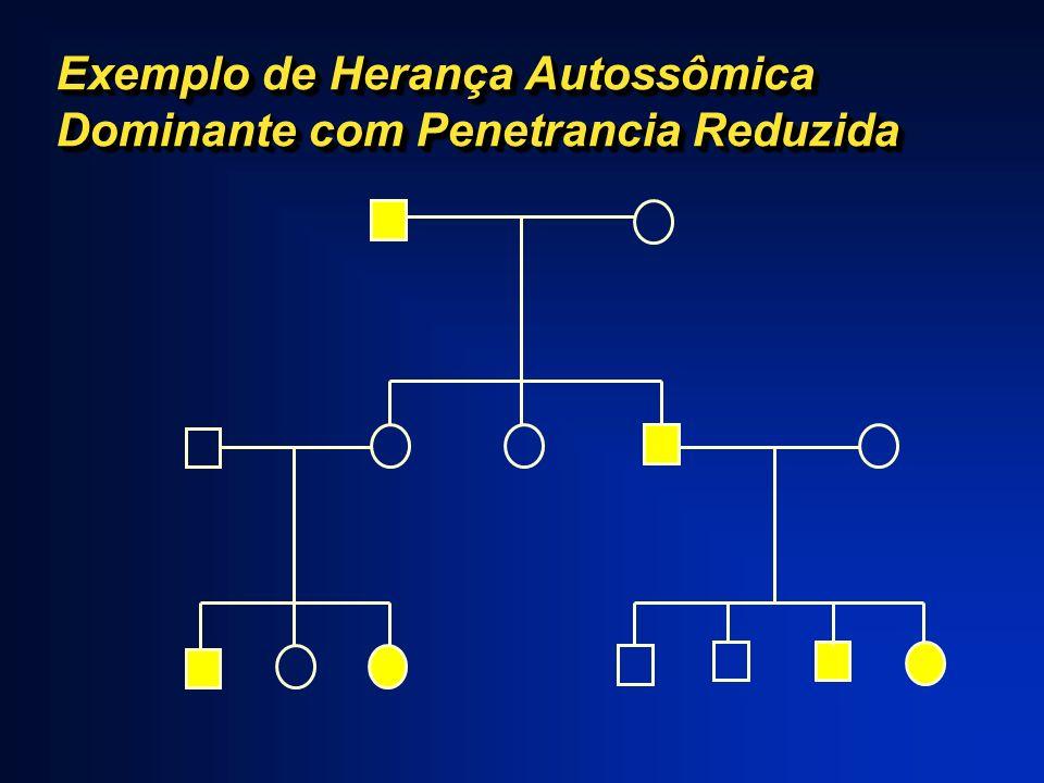 Exemplo de Herança Autossômica Dominante com Penetrancia Reduzida