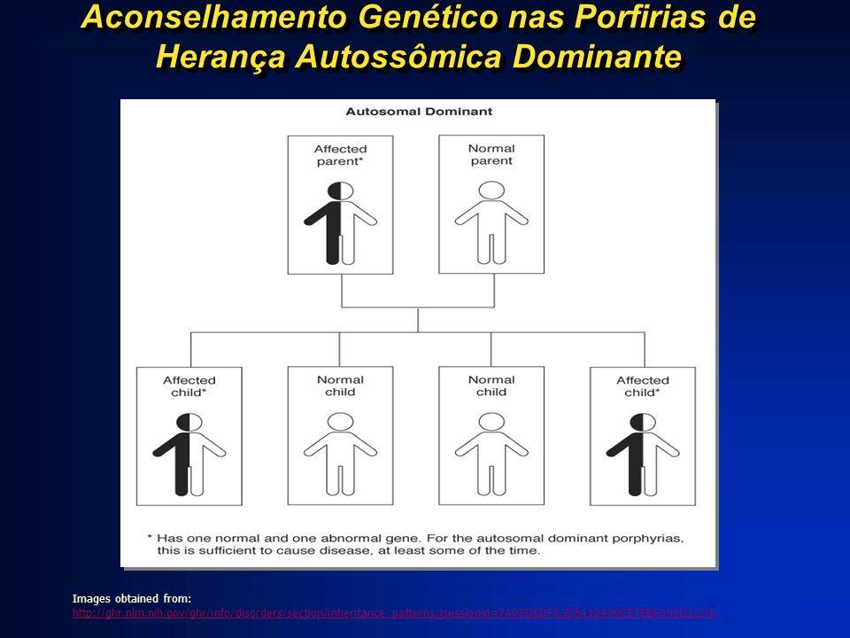 Aconselhamento Genético nas Porfirias de Herança Autossômica Dominante Images obtained from: http://ghr.nlm.nih.gov/ghr/info/disorders/section/inherit