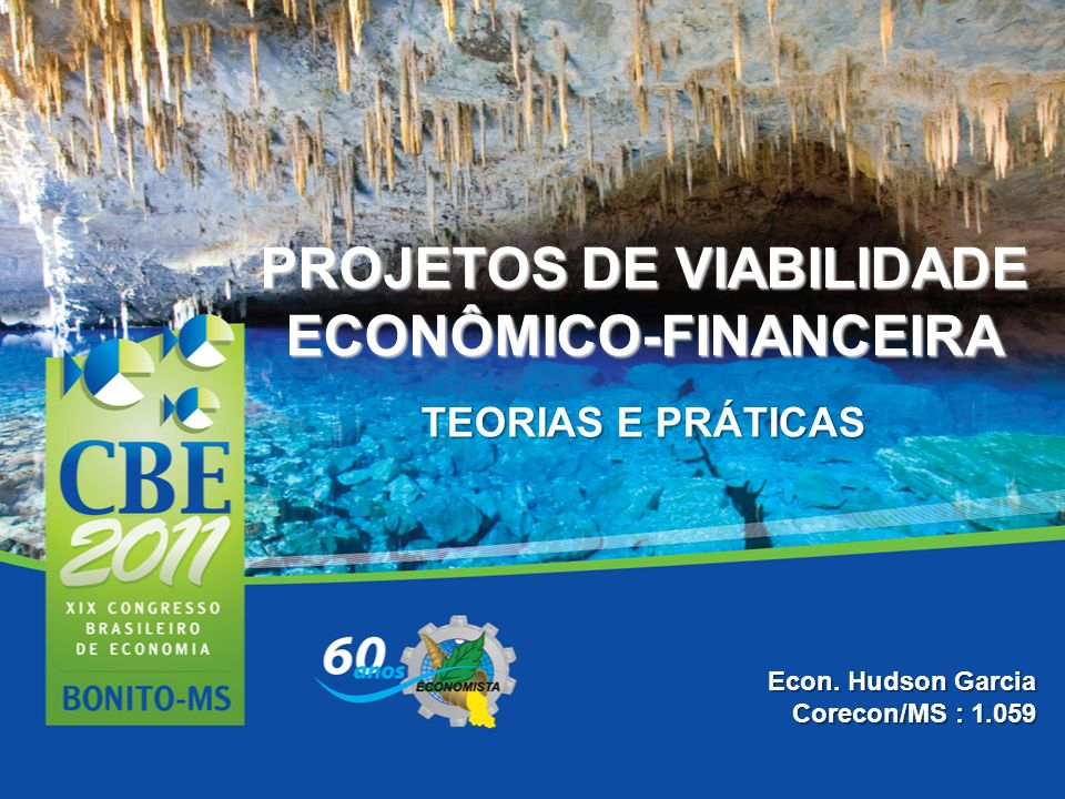 PROJETOS DE VIABILIDADE ECONÔMICO-FINANCEIRA TEORIAS E PRÁTICAS Econ. Hudson Garcia Corecon/MS : 1.059