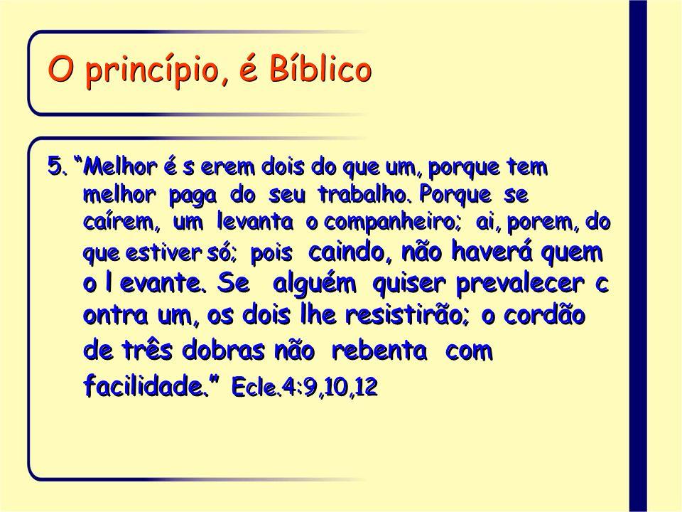 O princípio, é Bíblico 6.Um ao outro ajudou e ao seu próximo disse: Sê forte.