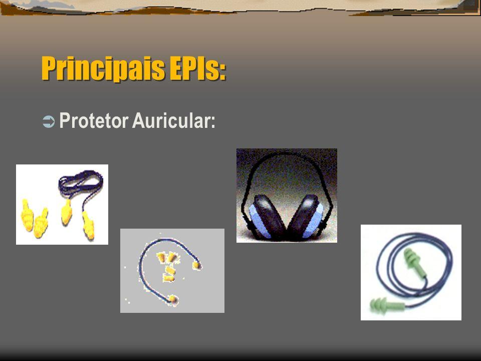Principais EPIs: Protetor Auricular: