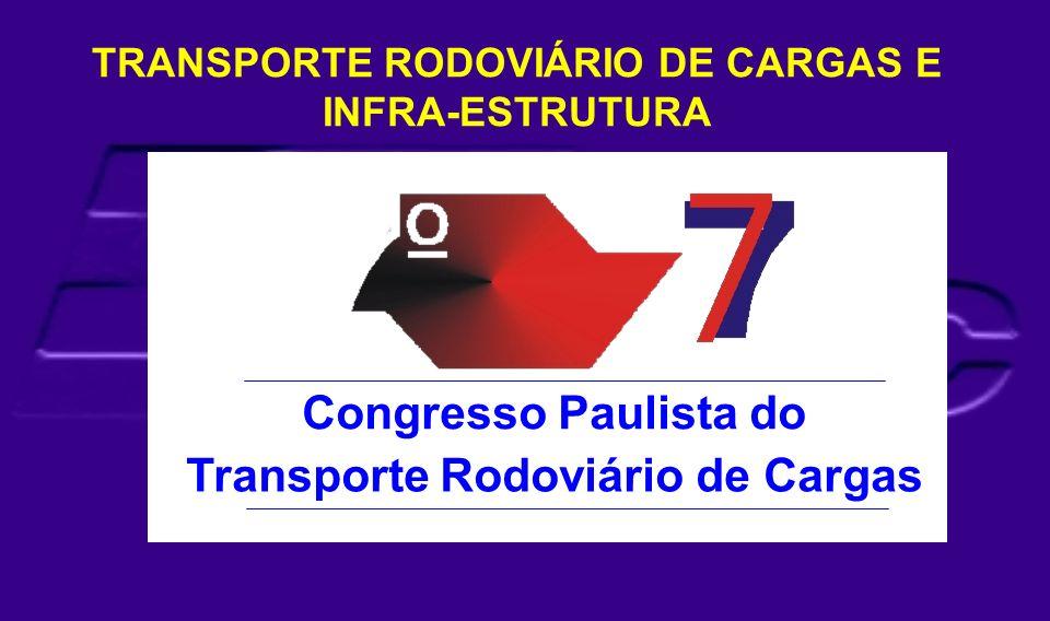 Congresso Paulista do Transporte Rodoviário de Cargas TRANSPORTE RODOVIÁRIO DE CARGAS E INFRA-ESTRUTURA