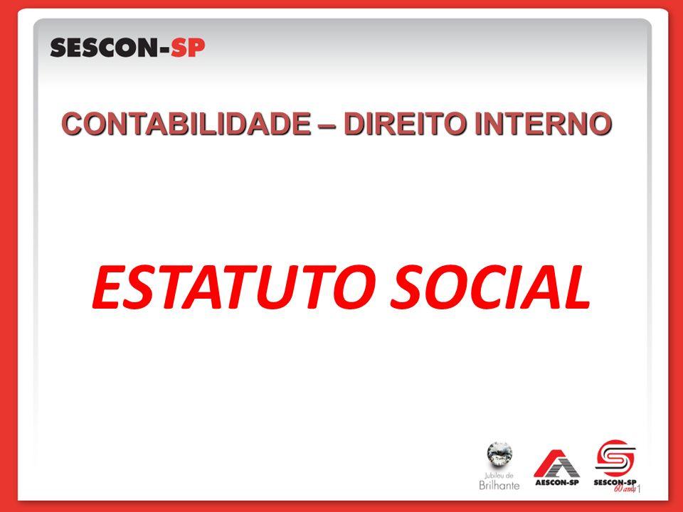 ESTATUTO SOCIAL CONTABILIDADE – DIREITO INTERNO 41