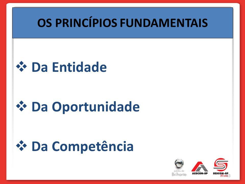Da Entidade Da Oportunidade Da Competência OS PRINCÍPIOS FUNDAMENTAIS 43