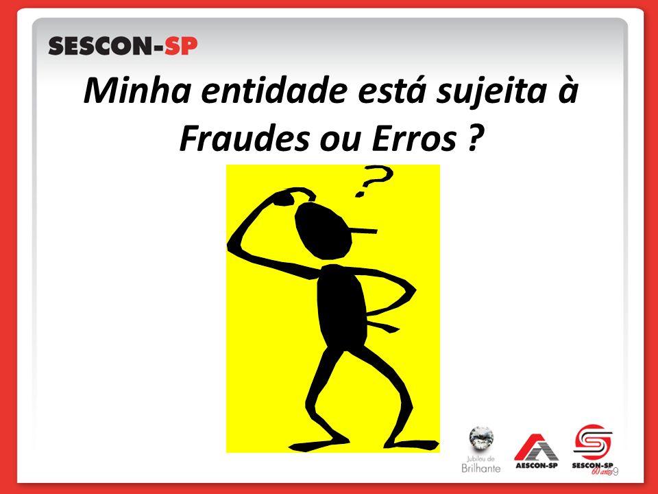 Minha entidade está sujeita à Fraudes ou Erros ? 59