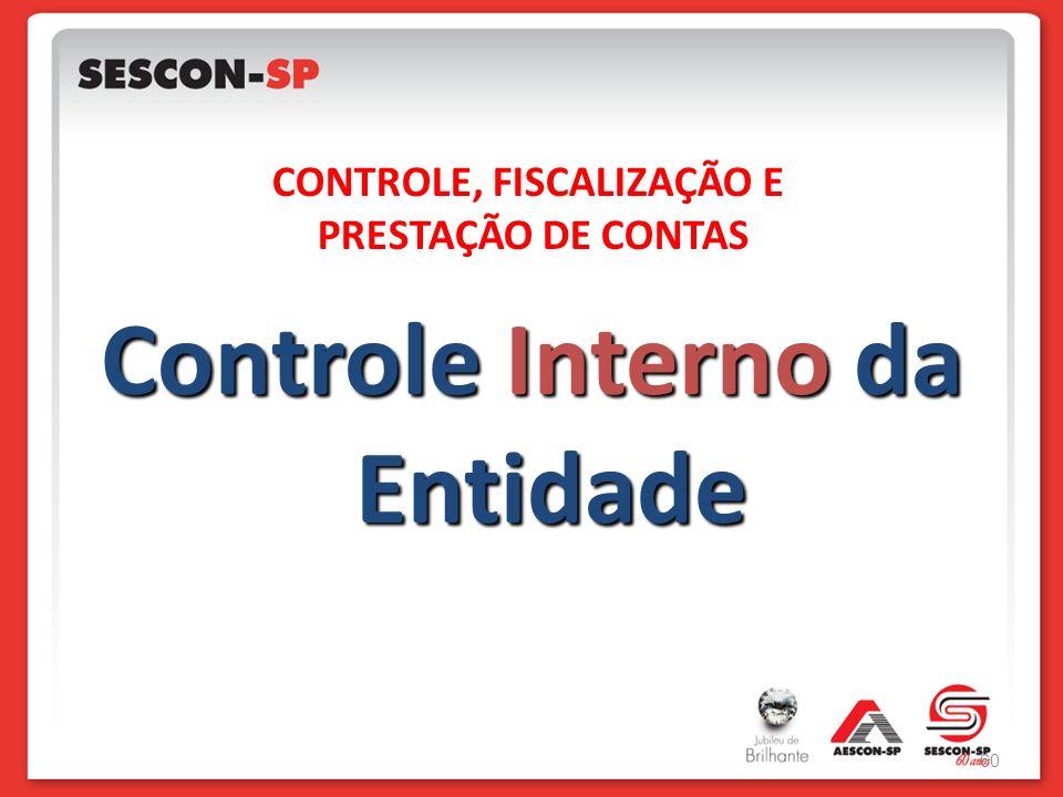 Controle Interno da Entidade CONTROLE, FISCALIZAÇÃO E PRESTAÇÃO DE CONTAS 60