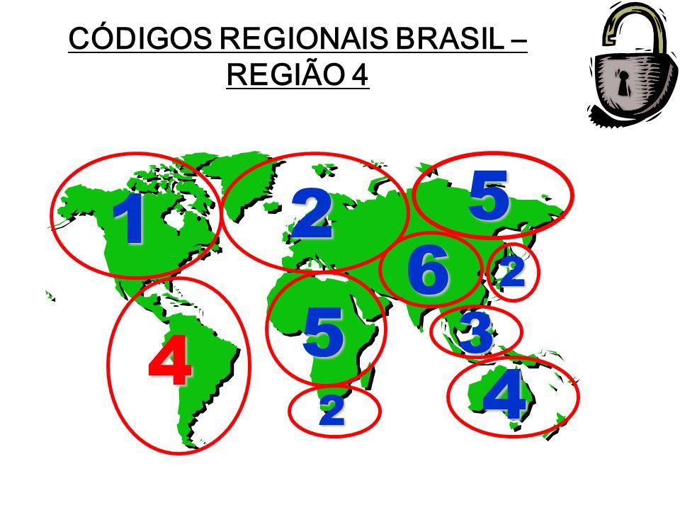 CÓDIGOS REGIONAIS BRASIL – REGIÃO 4 Preparado por Carlos Lopes 4 4 1 2 2 2 3 5 5 6