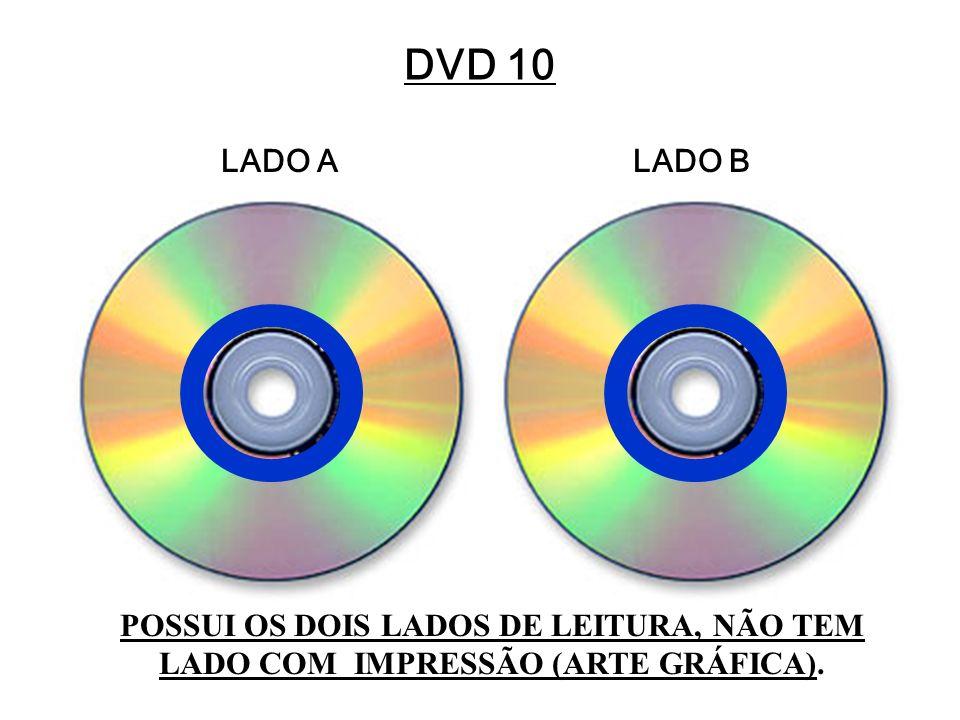 DVD 10 LADO ALADO B POSSUI OS DOIS LADOS DE LEITURA, NÃO TEM LADO COM IMPRESSÃO (ARTE GRÁFICA).
