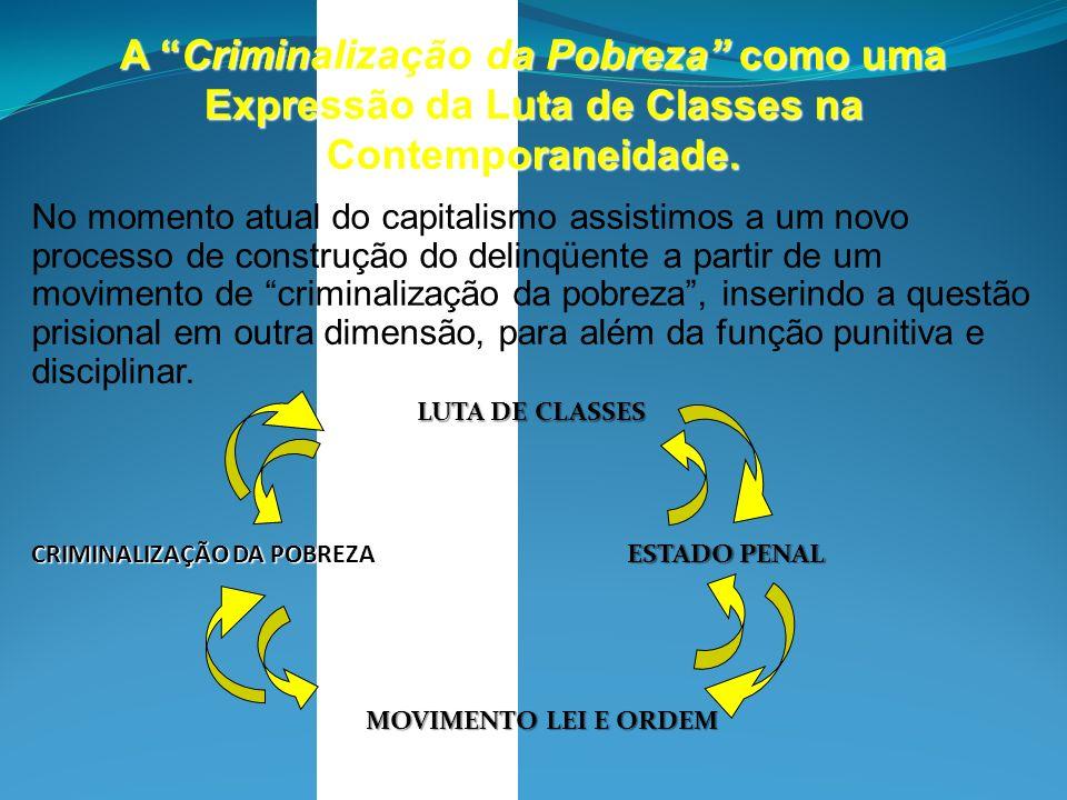 A Criminalização da Pobreza como uma Expressão da Luta de Classes na Contemporaneidade. No momento atual do capitalismo assistimos a um novo processo
